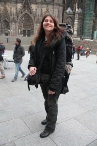 Silvia vor ihrer Abreise aus Köln
