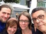 ARD - Deutschland-Dein Tag - ein Selfie vom Team und Peter Wagner