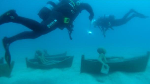 Museo Atlantico auf Lanzarote - Bootsrennen der Kinder