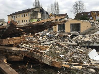 Graf Recke Stiftung - Abrissarbeiten auf dem Gelände der Graf Recke Stiftung