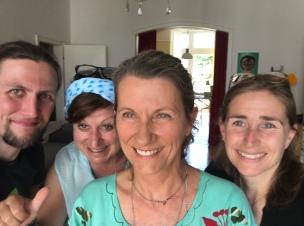 Teamfoto mit Martin Radtki, Petra Domres, Gitti Müller und Susanna Schürmanns